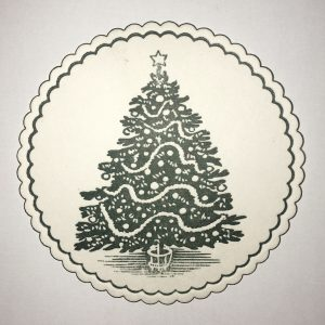 christmas tree circular holiday coaster