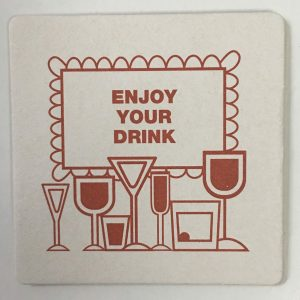 Enjoy Your Drink, Beverage Coasters produces disposable paper coasters of different paper types like cellulose coasters, budget board coasters, and pulpboard coasters. If you're holding holiday celebrations, we have a variety of holiday coaster to choose from. If your business could use some advertising help, coasters are the perfect way to advertise. We sell wholesale custom coasters with custom paper choice and your logo printed on a coaster.