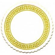 ornamental round coaster