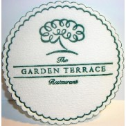 garden terrace restaurant custom paper coaster, advertising coasters