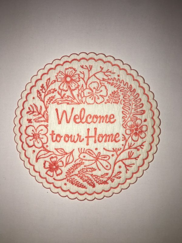 Welcome to our Home coaster in Red