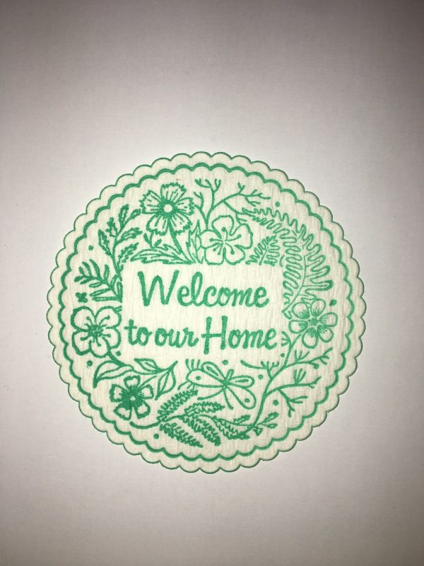 Welcome to our Home coaster in Green