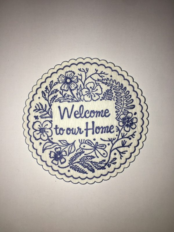 Welcome to our Home - DarkBlue