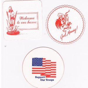 welcome coaster, good morning coaster, support our troops coaster