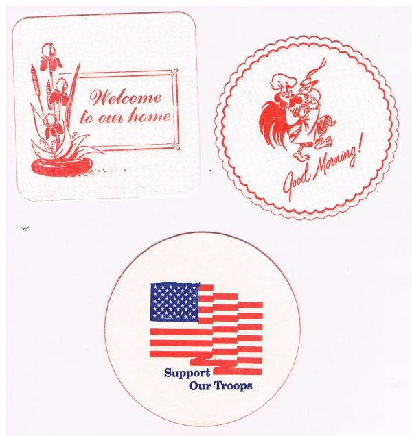 welcoms coaster, good morning coaster, support our troops coaster