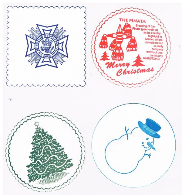 veterans coaster and christmas coasters